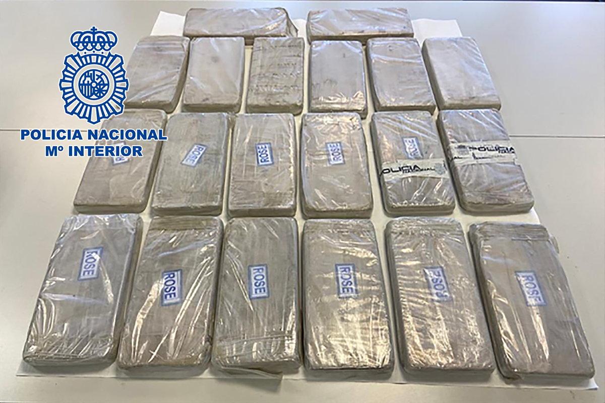 Paquetes de la heroína intervenida