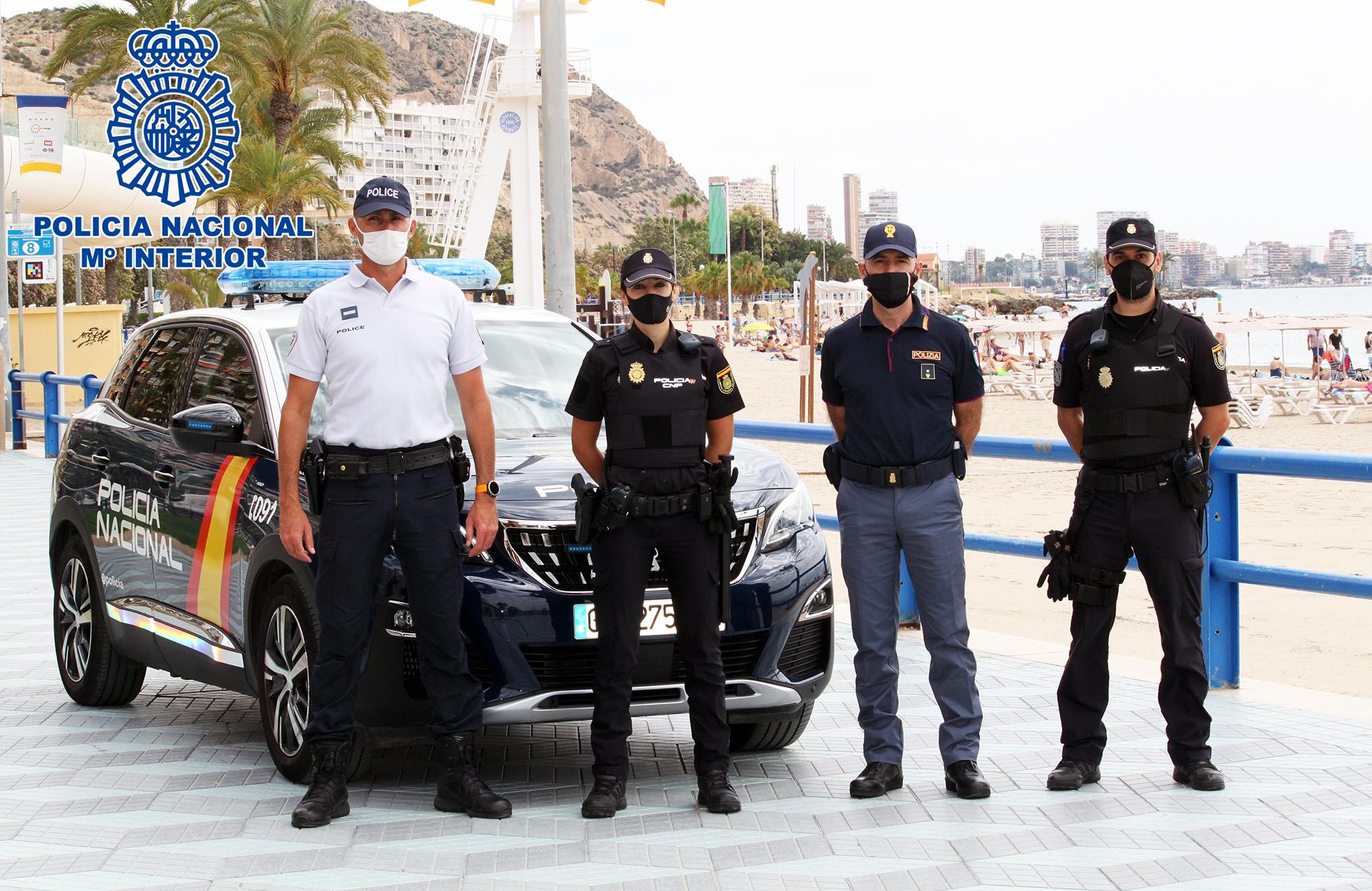 Agentes de la Policía Nacional y Policías de Francia e Italia